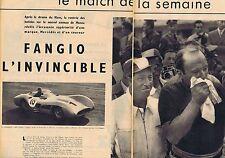 COUPURE DE PRESSE CLIPPING 1955 JUAN-MANUEL FANGIO (4 pages)