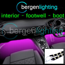 2X 500MM PINK INTERIOR UNDER DASH/SEAT 12V SMD5050 DRL MOOD LIGHTING STRIPS