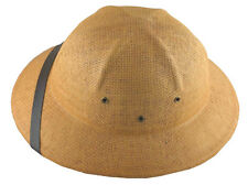 K Summer 100% Straw Pith Helmet Postman Hat Tan Brown
