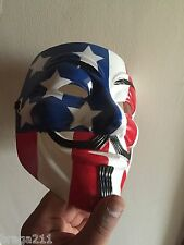 USA Flag Anon Custom Guy Fawkes Protest V For Vendetta Anonymous Mask
