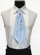 Men's Light Blue Ascot / Cravat Tie Victorian Theater Edwardian Morning Dress