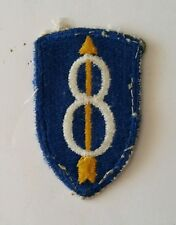 Patch US 8th INFANTRY DIVISION cut edge D-DAY WWII - 100 % ORIGINAL