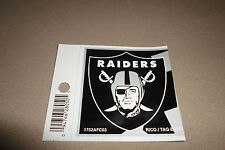 """NFL Oakland Raiders Removable & Repositionable Vinyl Sticker~3"""" X 2 3/4"""", NEW!"""