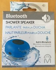 Mental Beats Bluetooth WIRELESS SHOWER SPEAKER - Blue - Model 00556 - NEW