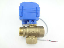 "1X3 way motorized ball valve G3/4"" DN20 12V (Reduce Port) L-Port Electric Valve"