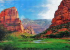 Zion Canyon and Angels Landing - 3D Lenticular Post Card Greeting Card