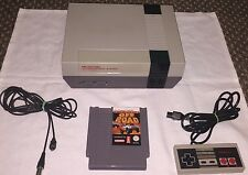 NES NINTENDO CONSOLE + 1 GAME + TV RF LEAD + PAD - WORKING UK VERSION