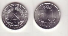 50 Pfennig Aluminium Münze DDR 1986 Stempelglanz (114256)