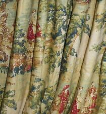 Covington Bosporus Toile Fabric ROD POCKET VALANCE Antique Red