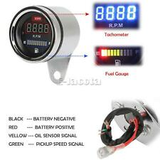 LED Tachometer Fuel Gauge Fit for Harley Davidson XL Sportster 1200 883