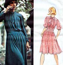 """VOGUE COUTURIER Vintage 70s JEAN MUIR DRESS Sewing Pattern Bust 34"""" Sz 10 PARTY"""