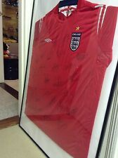 Signed England Shirt Framed Beckham And Many More