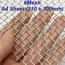 A4 Sheet (210 x 300mm)  6 Mesh Stainless Steel Filtration Woven Wire Sheet Panel