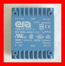 Print Trafo 230V 50/60Hz 2 x 12V 2 x 166mA Typ UI30/7,5 1 Stück