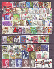 Britain (UK)-100 Diff. Small & Large Used Good Condition Stamps #F09