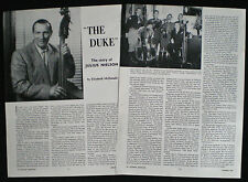 DUKE JULIUS NIELSON BASS PLAYER DON MESSER & HIS ISLANDERS PHOTO ARTICLE 1962