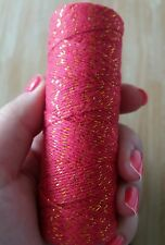 10m Bakers Twine Red/Gold 4ply 1mm Cotton  Crafts Gift Wrapping