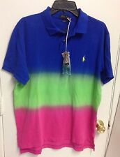 Ralph Lauren Men Custom Fit Dip Died Polo Shirt Multicolor Size Large NWT