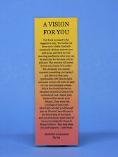 RECOVERY - SOBRIETY BOOKMARK - A VISION FOR YOU