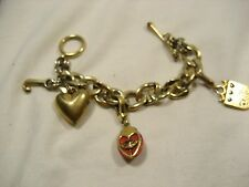 Bracelet Juicy Couture Heavy Chain 3 chunky charms 6 ½""