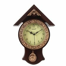 Sonic Haveli Pendulum Clock ( Brown)