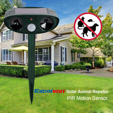 Solar Power Ultrasonic Signals Animal Repeller Outdoor Bird Mouse Expeller US