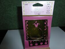 2 BRASS STENCILS  DRESS, FANCY BORDERS, ITS A GIRL THING,  IDEAL FOR CARD MAKING