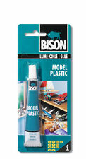 Bison Model Plastic Adhesive Transparent Glue 25ml  Solid Waterproof  Free P&P