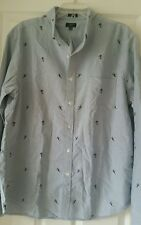 J Crew Factory Slim Printed Oxford Shirt XL f9894 Novelty blue ski man $69.50
