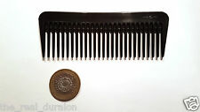 2 x Pocket Tudor Rose Comb De-tangle Wide tooth Rake comb 12cm Made in Britain