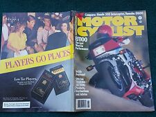 MOTOR CYCLIST JUN 1984 YAMAHA FJ 1100 600 HONDA VF500F INTERCEPTOR
