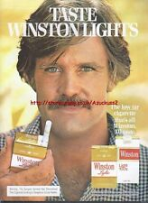 Winston Lights Cigarette 1978 Magazine Advert