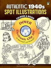 Authentic 1940s Spot Illustrations CD-ROM and Book: 300 Vector Files (Dover Elec