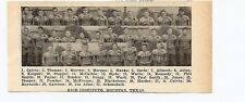 Rice University Sam Houston State College Texas 1928 Football Team Picture