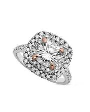 2.50 CT FOREVER BRILLIANT MOISSANITE CUSHION ROSE GOLD PRONG ENGAGEMENT RING