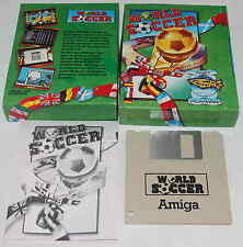 World Soccer, Amiga-Spieleklassiker in Topzustand, boxed, complete