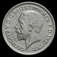 1934 George V Silver Sixpence – Scarce – A/UNC