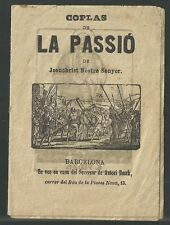 Coplas antiguas de la Passion de Cristo andachtsbild santino holy card santini