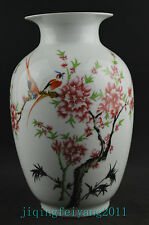 9.0inch collect porcelain handwork painting flower bird noble big vase deco