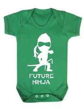"Baby Playsuit "" Future Ninja "" Ninja , Karate, Baby Grow / Bodysuit"
