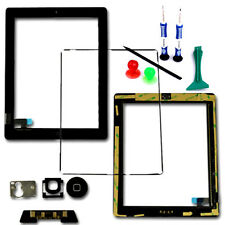 Touch Screen Digitizer vetro Telaio Lunetta HOME PULSANTE FLEX PER iPad 2 Nero Tools