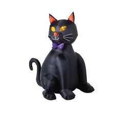 "Inflatable Lighted Black Halloween Cat - 48"" Tall"