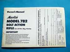 MARLIN MODEL 782 BOLT ACTION 22 MAGNUM OWNERS MANUAL DATED 02/86