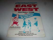 1983 58TH ANNUAL SHRINE ALL-STAR EAST WEST FOOTBALL STANFORD STADIUM POSTER SIGN