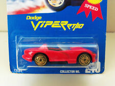 1991 HOT WHEELS BLUE CARD #210 GOLD MEDAL SPEED DODGE VIPER RT/10 (RED) DIECAST