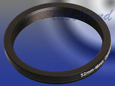 52mm-46mm Filter Adaptor Ring Converts 52mm lens thread to 46mm Step-Down