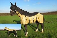 EQUIDOR OAKLAND FIXED NECK FLY RUG SHEET WITH FREE FLY MASK LARGE BELLY STRAP