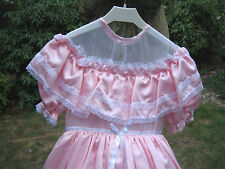 VINTAGE BRIDESMAIDS DRESS PINK BO PEEP HOOPED SKIRT 3 YEARS 98 CM FLOWER GIRL