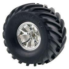 RC 1:10 Monster Truck Rubber Tires Tyre+Plastic Wheel Rim 4Pcs 0701-3003 For HPI