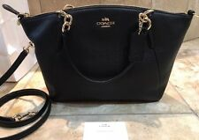 NEW COACH Small KELSEY CROSS BODY BAG IN PEBBLE LEATHER BLACK RRP $650